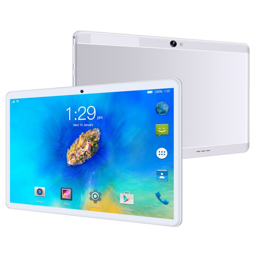 T2 Tablet 10.1-inch Ips High-definition Screen and Dual-card 8+256GB 4G-LTE Tablet Pc Silver_British Plug