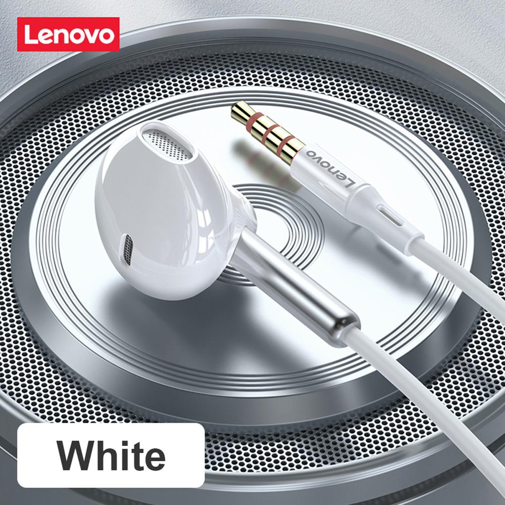 Original LENOVO XF06 Headphone 5.0 In-ear Earphone Ipx5 Waterproof 3.5mm Wired Earphones Sport Headset With Noise Cancelling Mic White