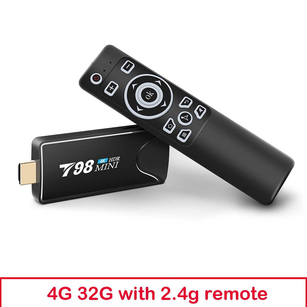 Mini Tv  Stick  Box Tv Android 10 4g 32g T98 Mini Tv Box Rk3318 Tv Box Smart Tv Box Media Player Tv Receiver 4+32G_Australian plug