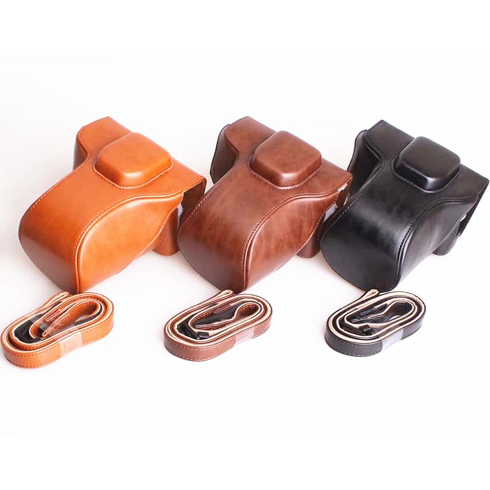 PU Leather case bag cover For FujiFilm Fuji X-T30 XT30 camera battery-open Coffe brown