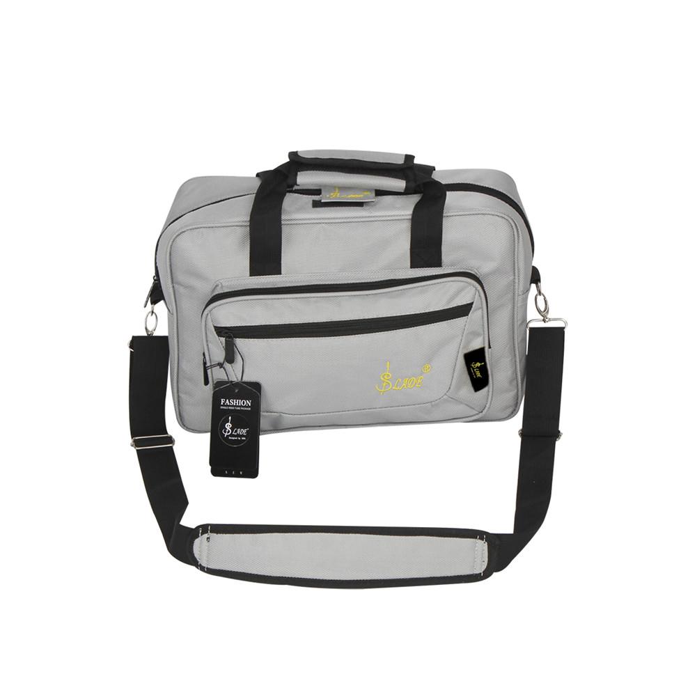 Universal Oboe Clarinet Carrying Bag Backpack Case Soft Clarinet Bag Sponge Padding with Shoulder Strap gray