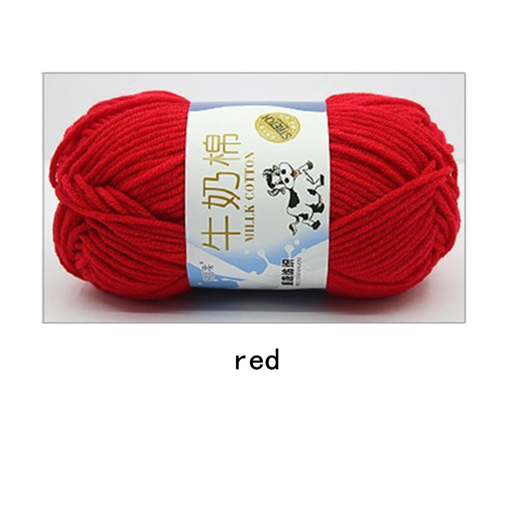 Hand Knitting Cotton Knitting Wool Doll Thread for Knitting Scarves Gloves Clothes red