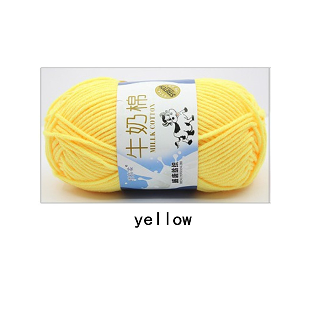 Hand Knitting Cotton Knitting Wool Doll Thread for Knitting Scarves Gloves Clothes yellow