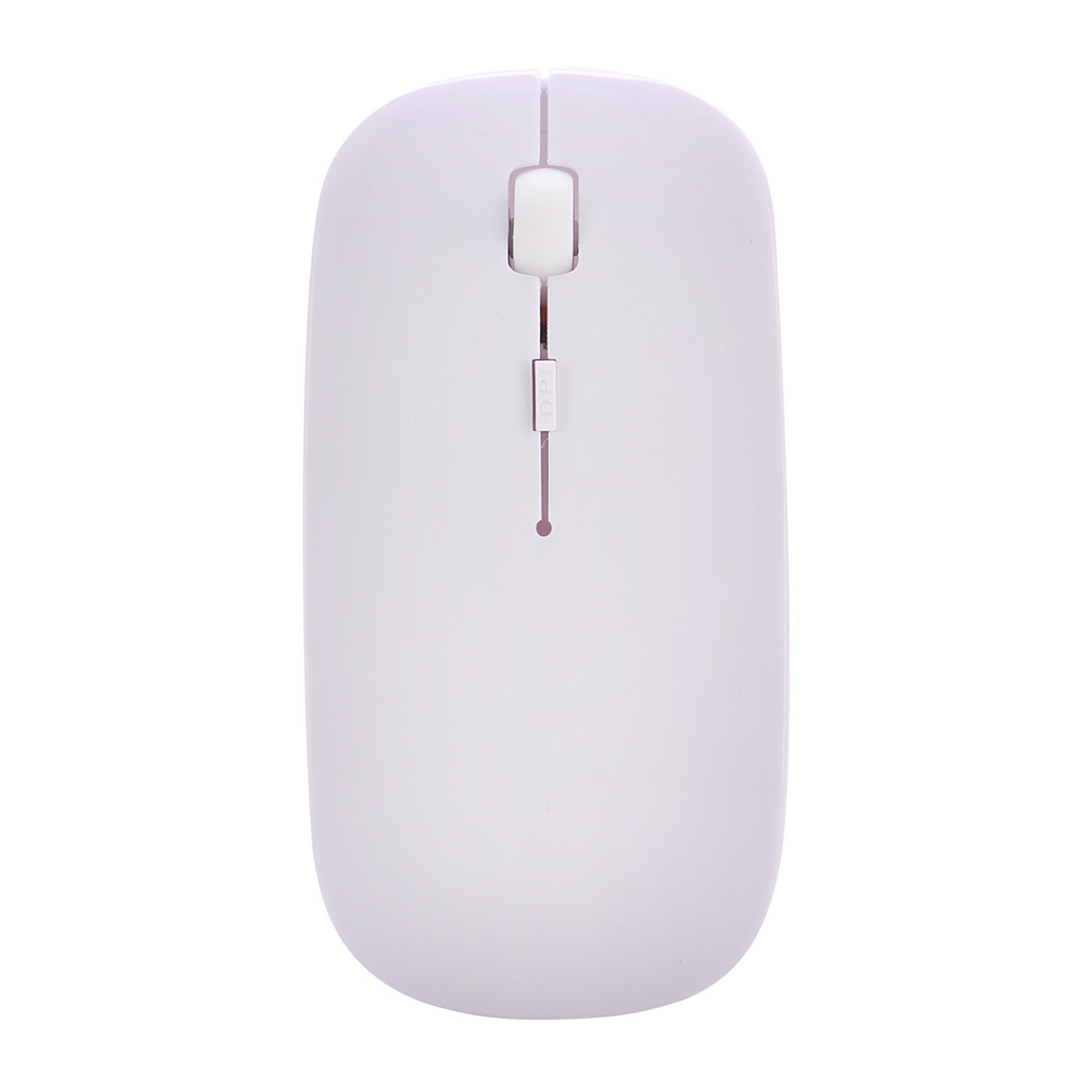 2.4G Mini Portable Laptop Computer Wireless Four-way Roller Game Mouse Bluetooth Office Business Mouse White_2.4G wireless + Bluetooth