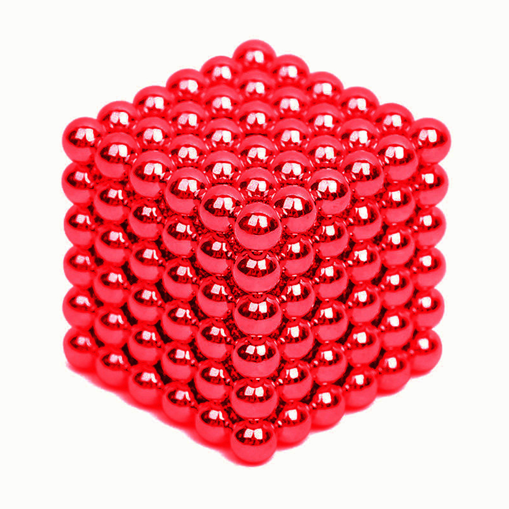 216PCS Puzzle Cube 3mm Magnetic Ball Decompression Toy DIY Toy red