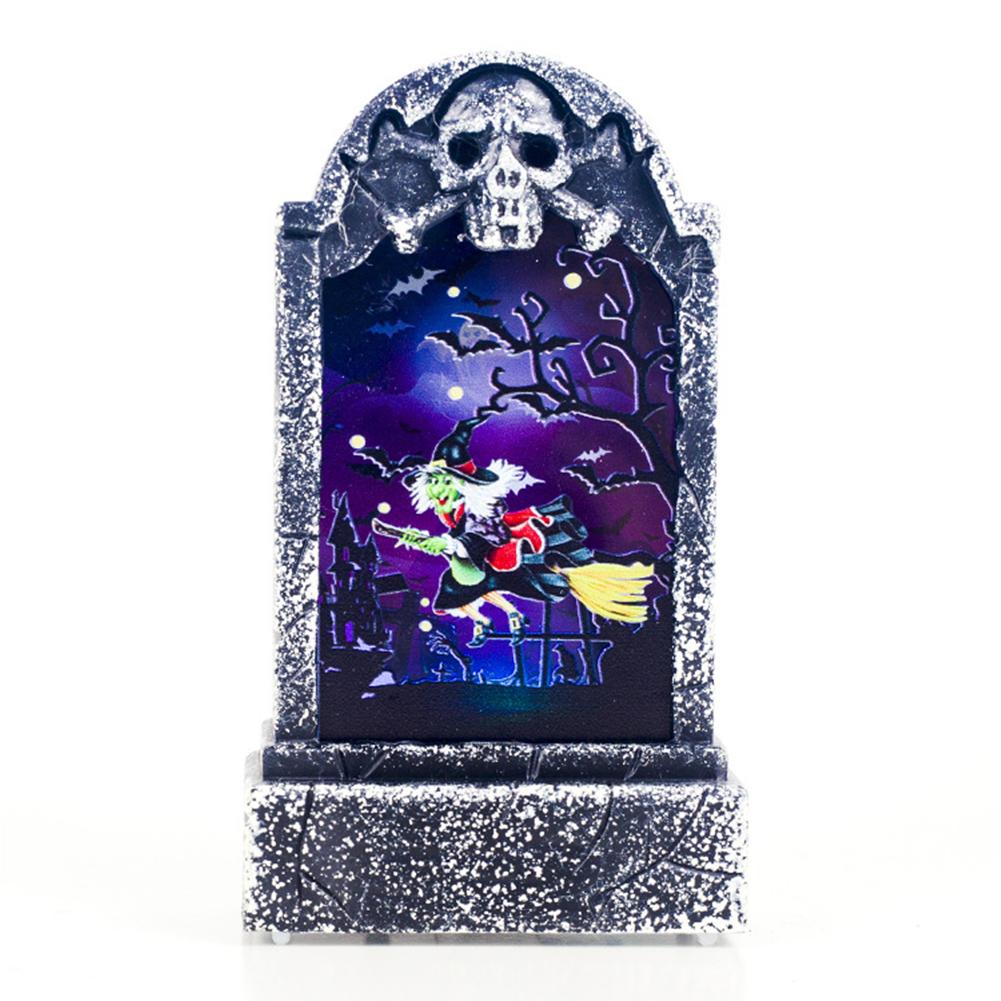 Halloween Decoration Light Retro Simulation Tombstone Lights Bar Atmosphere Decoration Props