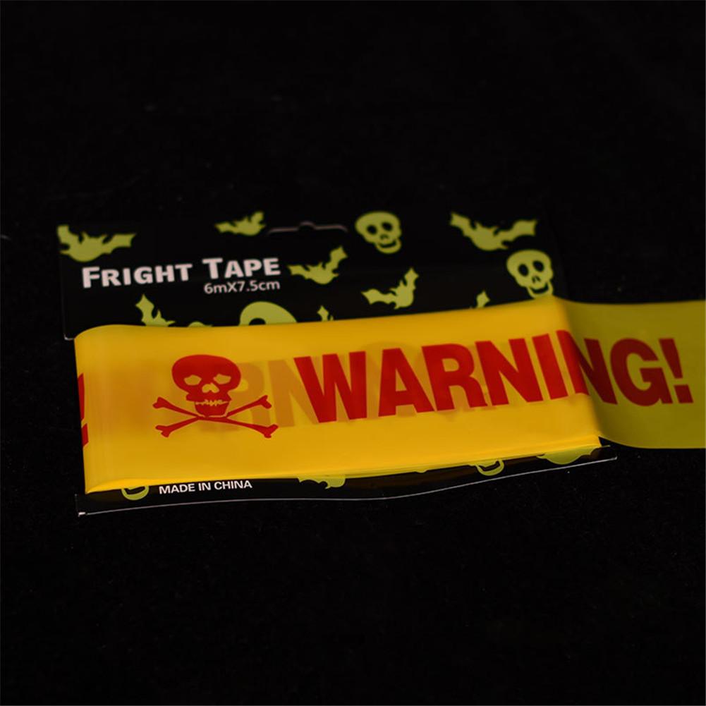 Halloween Cordon Insulation Plastic PE Orange WARNING