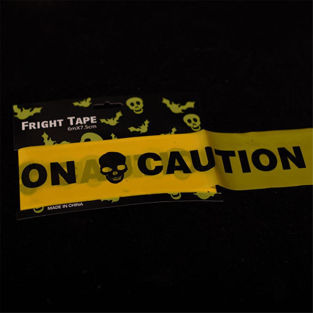 Halloween Cordon Insulation Plastic PE Yellow caution