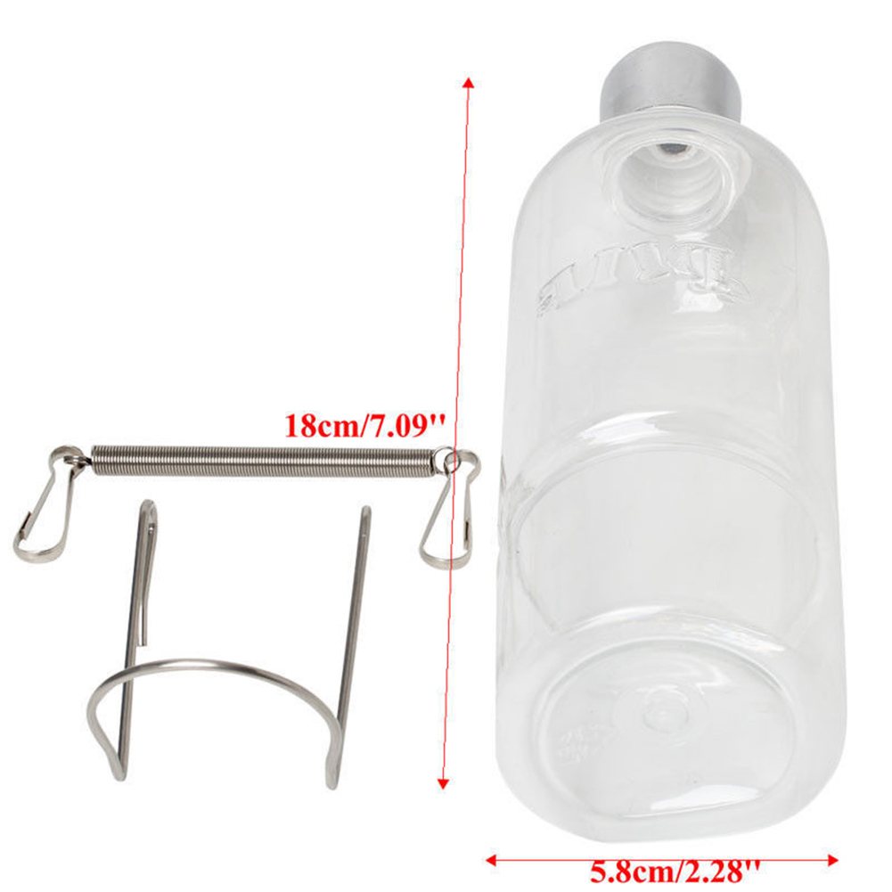 350ml Pet Rat Water Drinking Bottle Hamster Rabbit Water Dispenser Cylindrical Feeder 350ml
