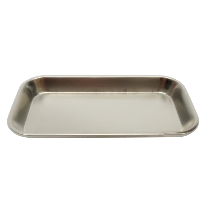 Dental Durable Thickening Stainless Steel Instrument Tray Useful Tool Rectangle Disk Tray for Clinic Lab Food Tray Kitchen Tool 22.5x11.5x2cm