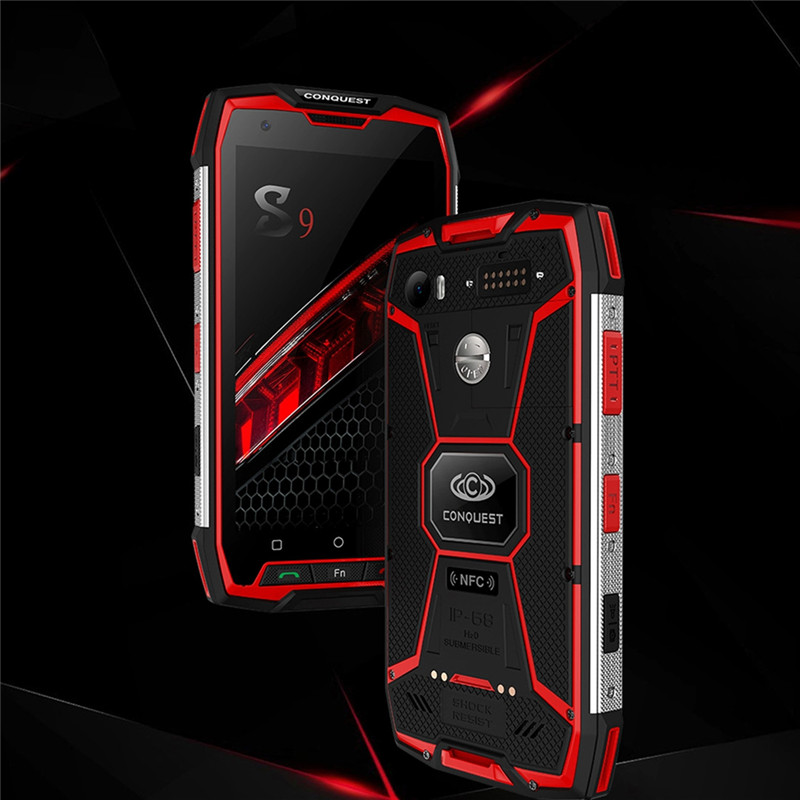 Conquest S9 Rugged Smartphone, IP68 Waterproof, 5.5Inch IPS, 8.0+16.0 Megapixel, Android 7.1 Octa Core Up to 2.35GHz, 6GB+64GB