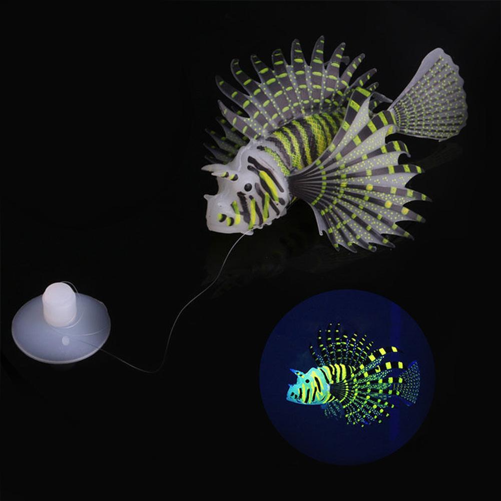 Aquarium Landscaping Aquarium Decoration Luminous Simulation Color Lionfish Silicone Material Fish Fishbowl Decoration black