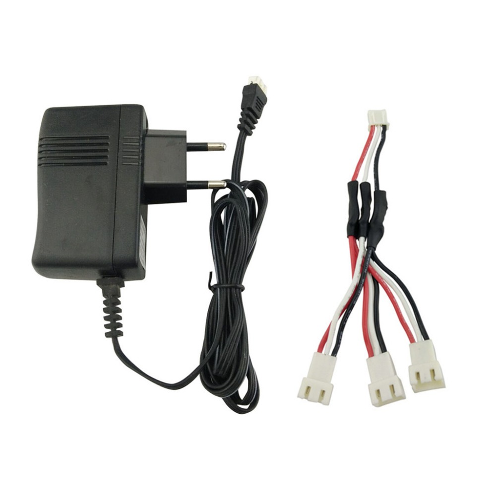 7.4V Lithium Battery Charger for hubsan X4 H502E H502S H501S SYMA X8 X8C X8G X8HG X8HW X8HC MJX X101 V913 X6 Helicopter Charger EU plug + Adapter cable