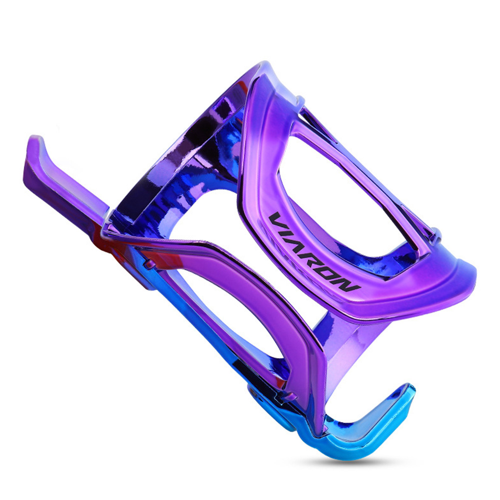 Bicycle Water Bottle Holder MTB Rainbow Water Bottle Cage Cycling Accessories Gradient blue and purple