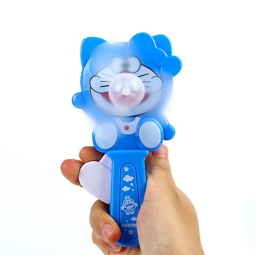 Portable Handhold Mini Fan with Cartoon Shape for Student 47A Little Blue Cat_One size