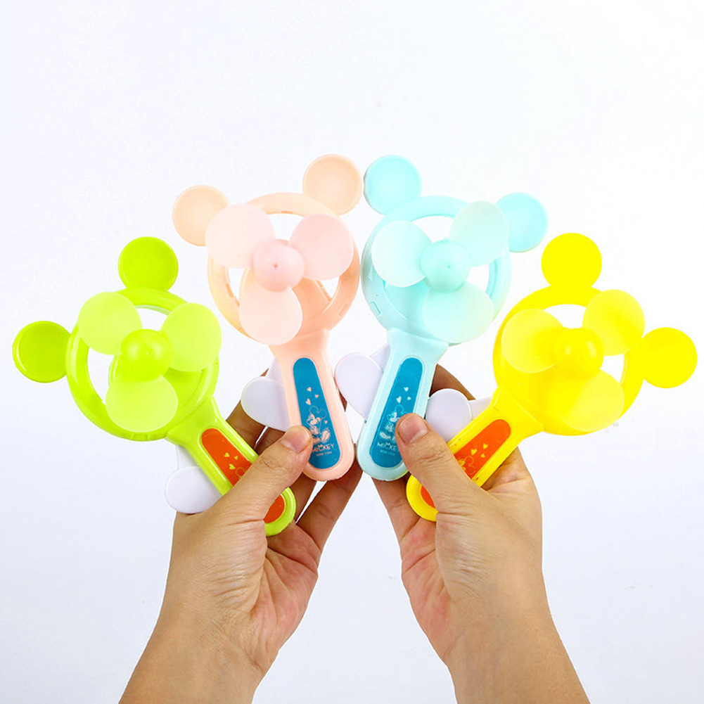 Portable Handhold Mini Fan with Cartoon Shape for Student 34A Mi Qi_One size