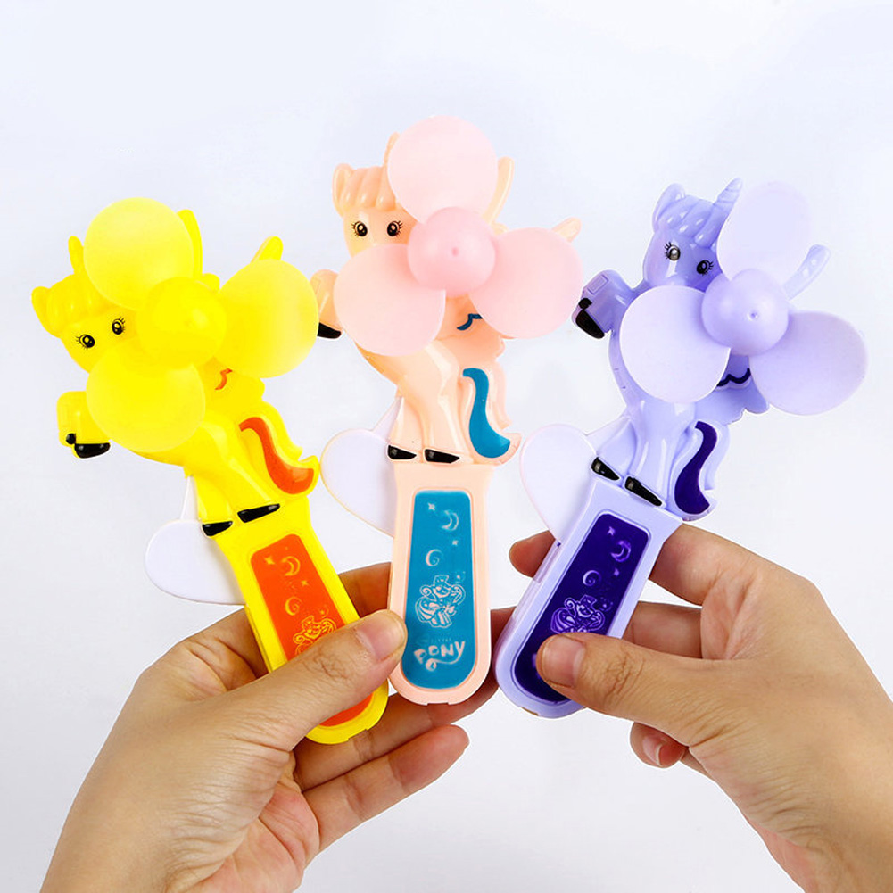 Portable Handhold Mini Fan with Cartoon Shape for Student 45A pony_One size