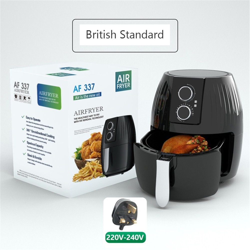 Air  Fryer 5.5l Large-capacity Electric Cooker For Kitchen Grill Toaster Roast Reheat Bake NeutralUK Plug Machinery