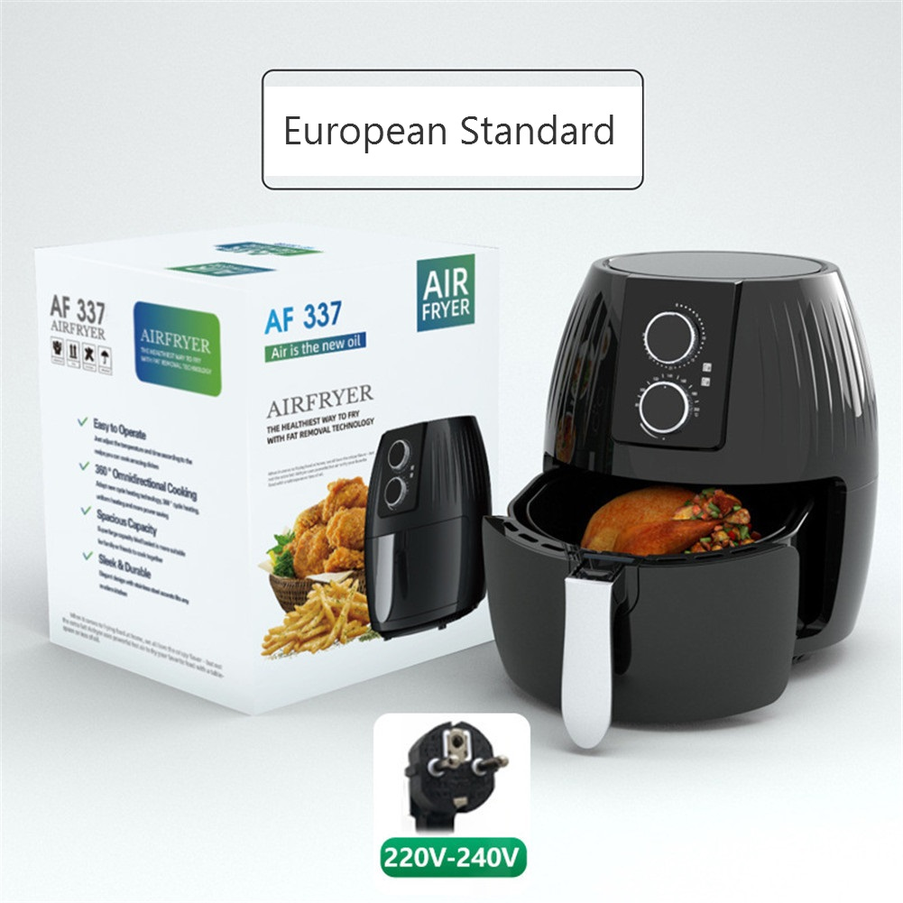 Air  Fryer 5.5l Large-capacity Electric Cooker For Kitchen Grill Toaster Roast Reheat Bake Neutral EU Plug machinery