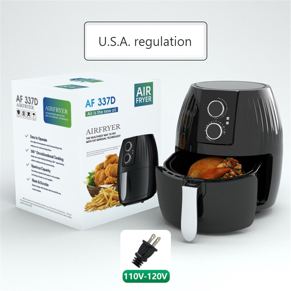 Air  Fryer 5.5l Large-capacity Electric Cooker For Kitchen Grill Toaster Roast Reheat Bake Neutral US Plug machinery