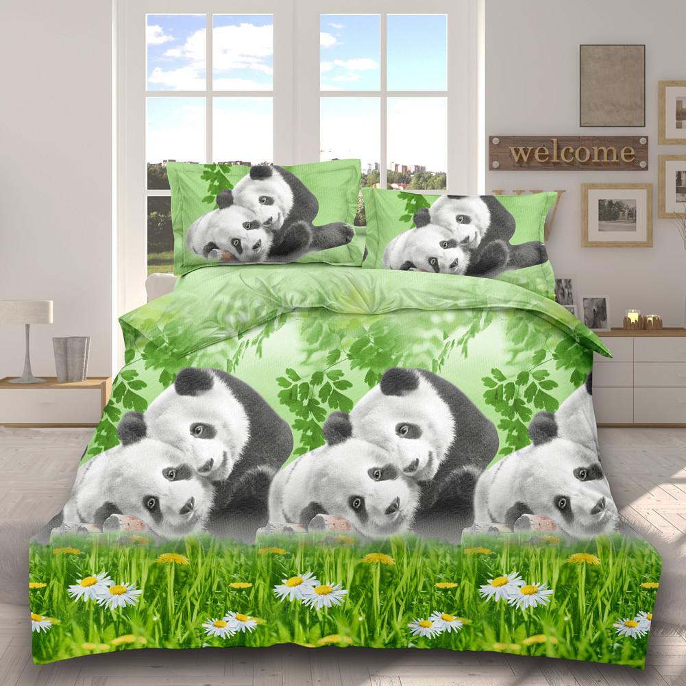4Pcs/Set 3D Printed Stylish Bed Set Bed Sheet Quilt Cover Pillowcases Wedding Housewarming Decoration