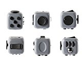 [US Direct] Fidget Cube Toy Relieve Stress, Anxiety and Boredom for Children and Adults Grey&Black