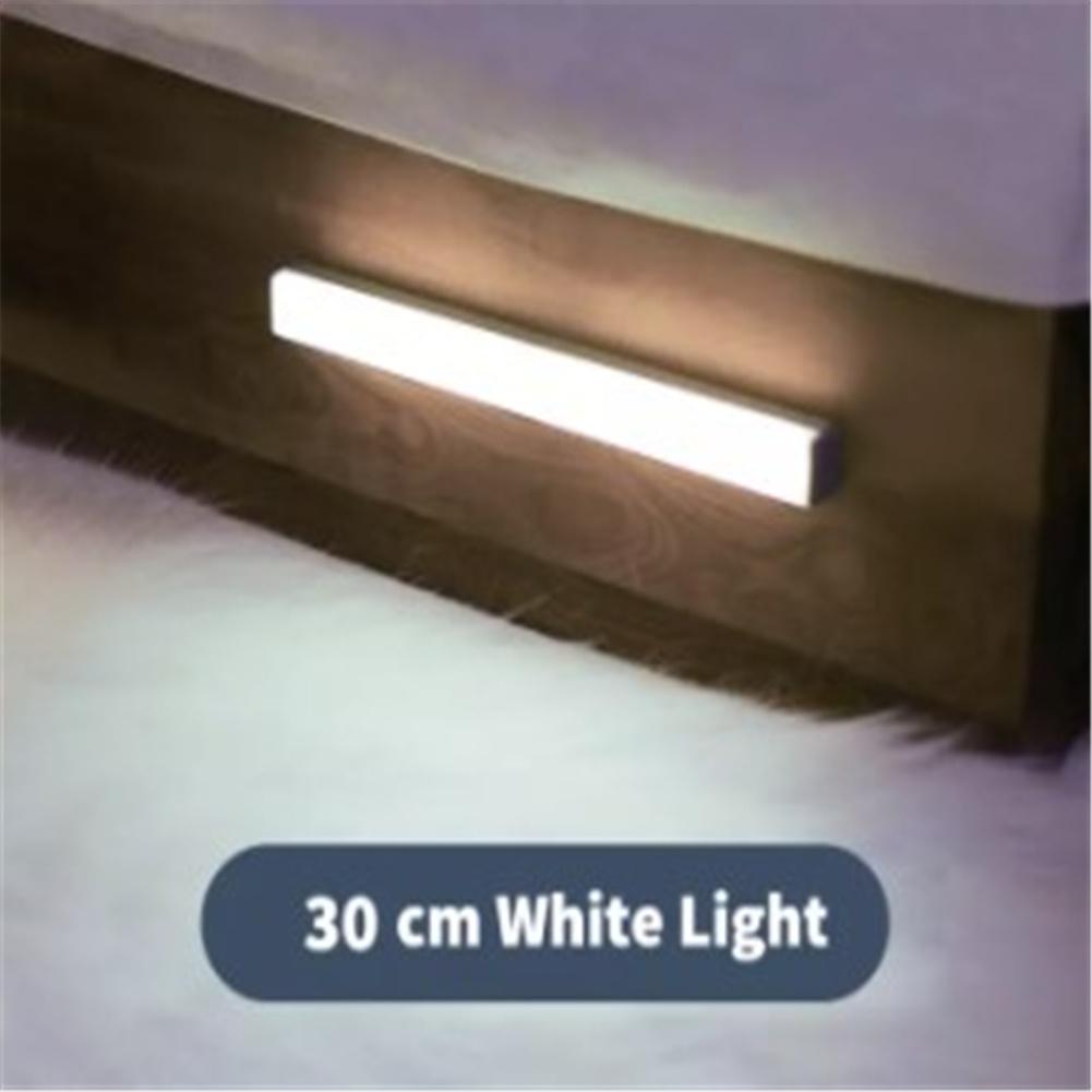 Night  Light Human Motion Sensor Led Lamp For Bedroom Bathroom Kids Room (warm Yellow/white) White light 30cm