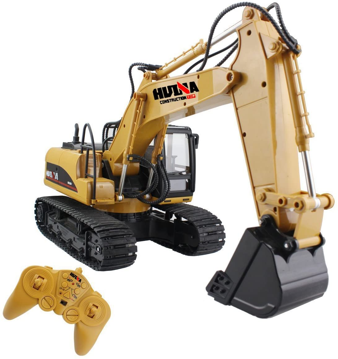 1/14 Rc Truck Caterpillar Alloy Tractor Engineering Car 2.4ghz Radio Controlled Car 15 Channel Rc Excavator Toy For Boy as shown