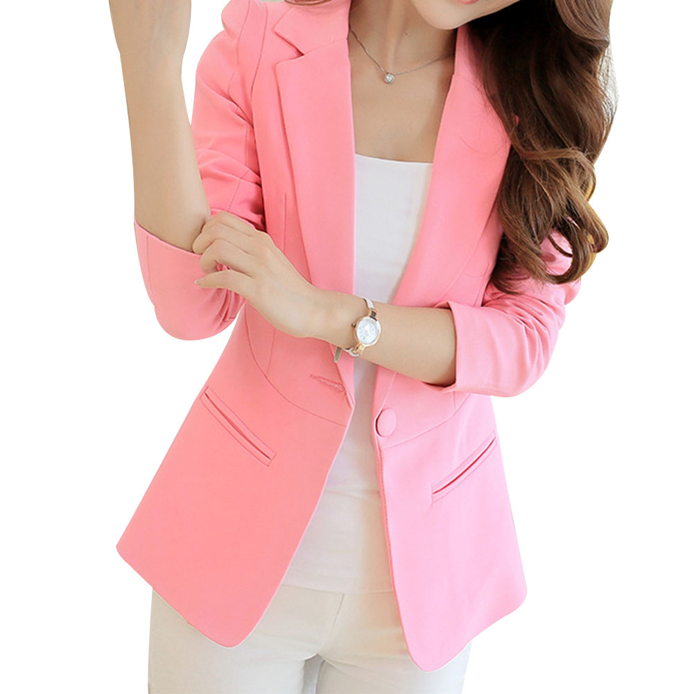 Women Casual Solid Color Long Sleeve Jacket