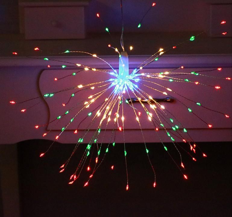 LED Solar Copper Wire Fireworks String Light for Christmas Outdoor Garden Decoration colors_40 200LED solar models