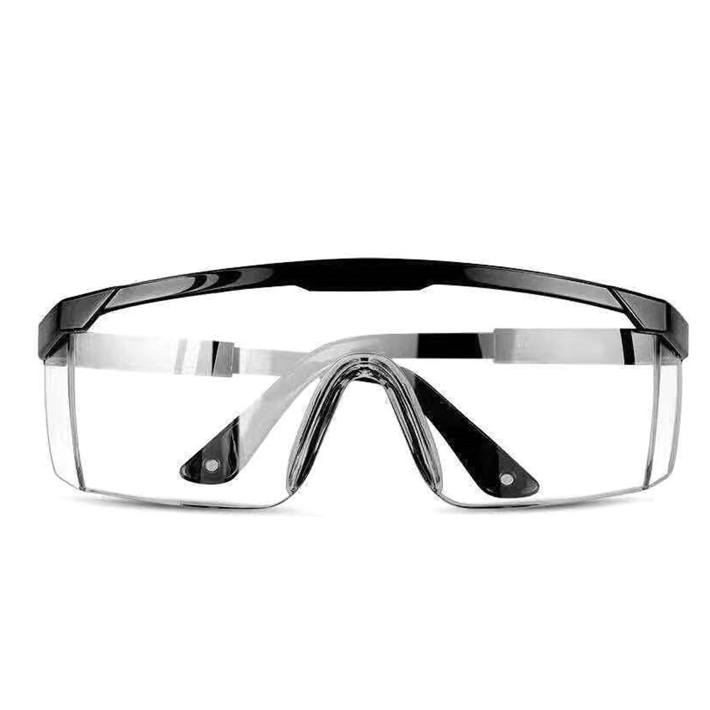 Safety Goggles Protective Transparent Protection Anti Dust Saliva Goggles Outdoor Safety Equipment black_2PCs
