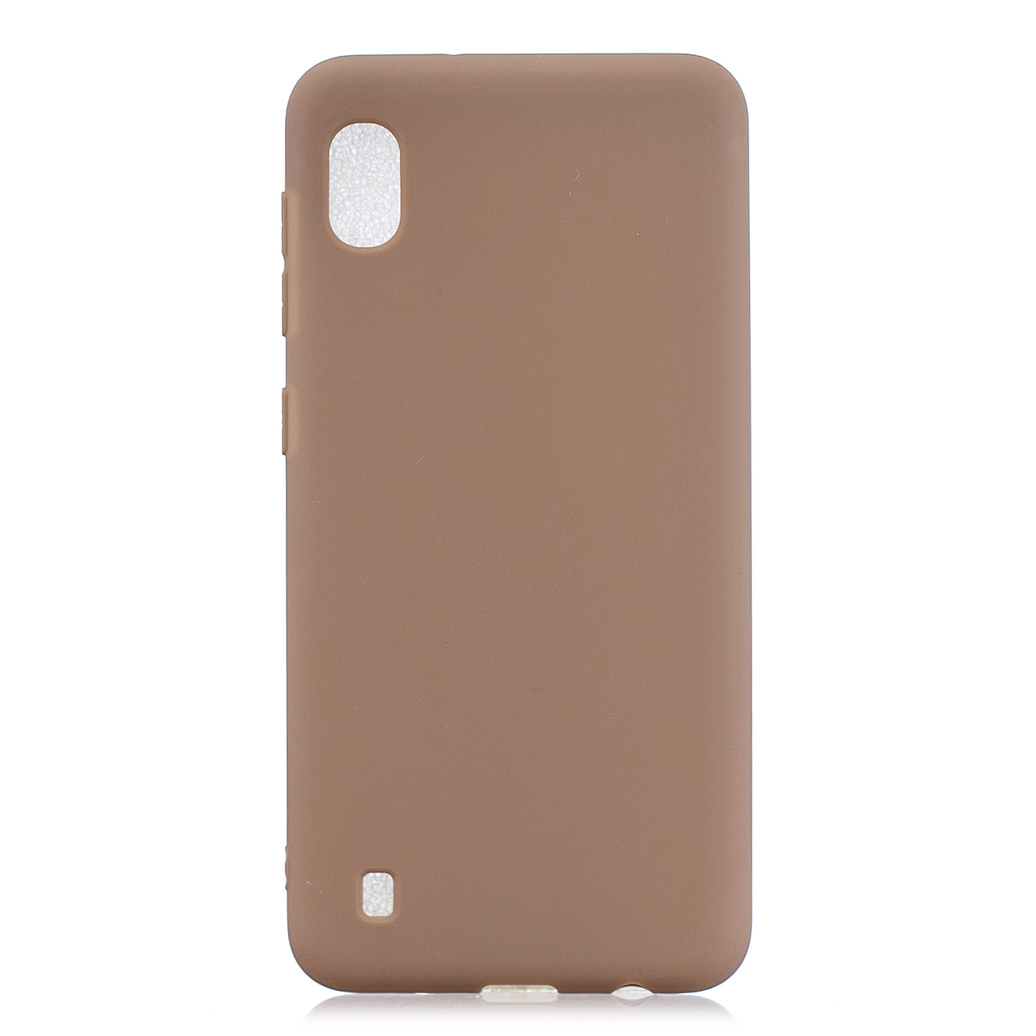 For Samsung A01/ A11/A21/A41/A51/A71/A81/A91 Mobile Phone Case Lovely Candy Color Matte TPU Anti-scratch Non-slip Protective Cover Back Case 9 brown