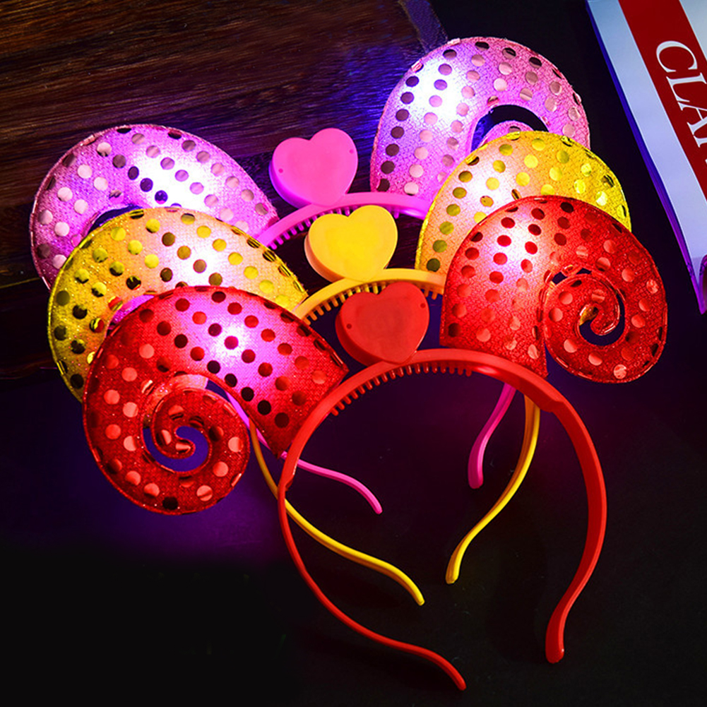 LED Light Up Headbands, Kids 3D Cartoon Glowing Hairband, Children Hair Hoop for Christmas Halloween Gift