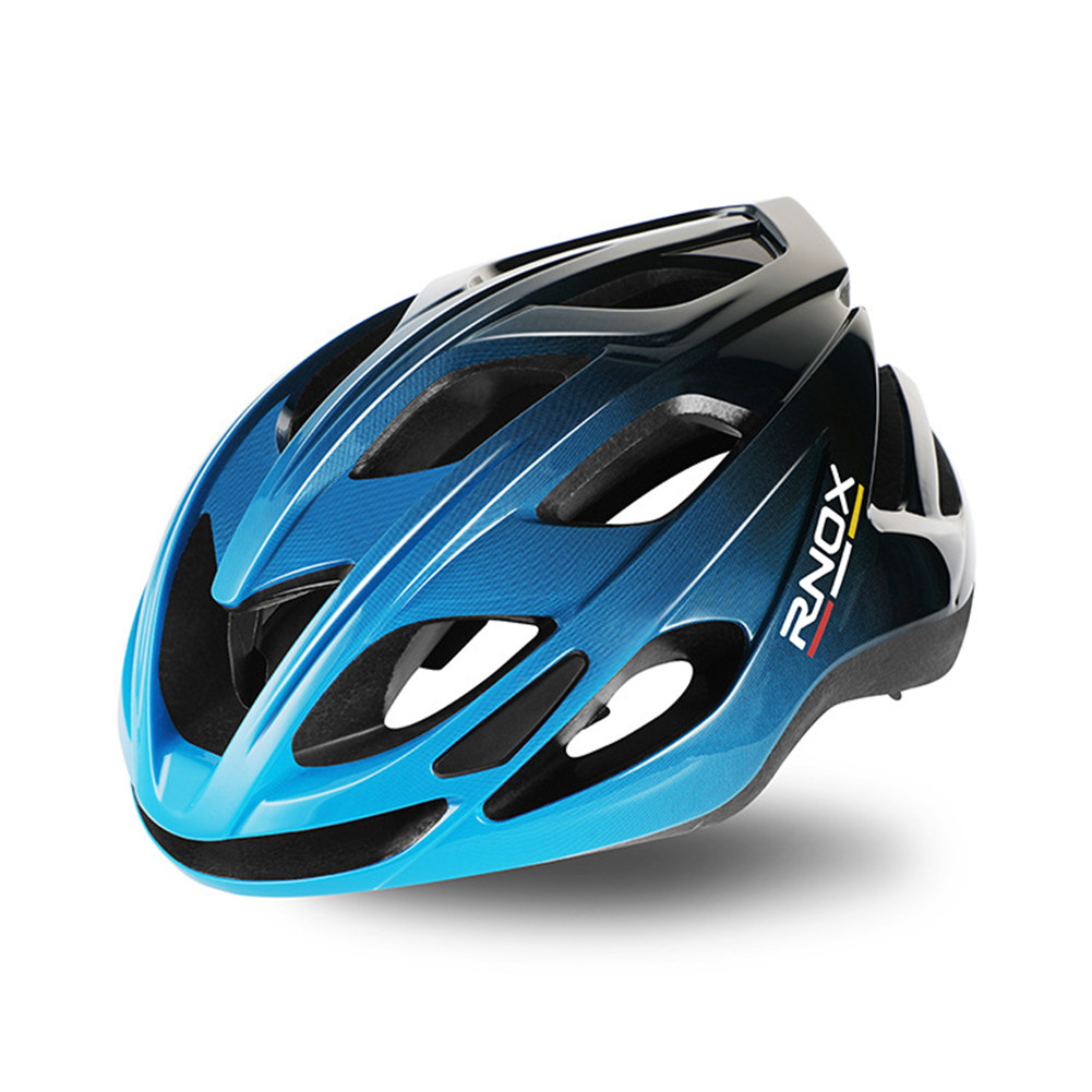 Aerodynamics Helmet Ultralight Unisex Integrated Bicycle Helmet Road Racing Cycling Safety Bike Helmet Riding Equipment Black and blue gradient_One size