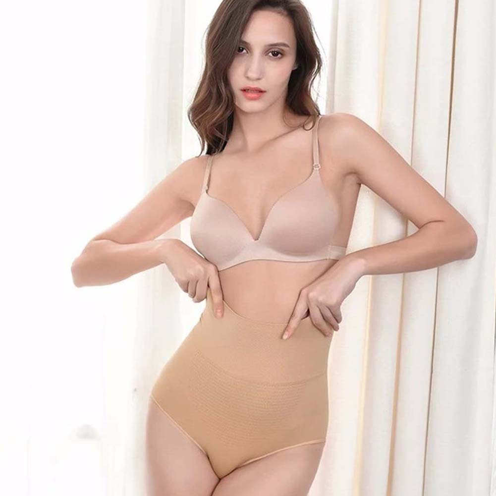Womens Briefs High Waist Briefs Waist Trainer Belly Control Underwear  skin color