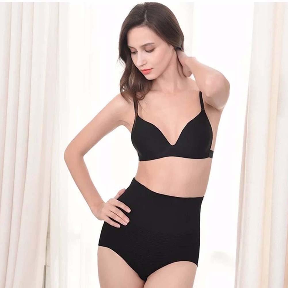Womens Briefs High Waist Briefs Waist Trainer Belly Control Underwear  black