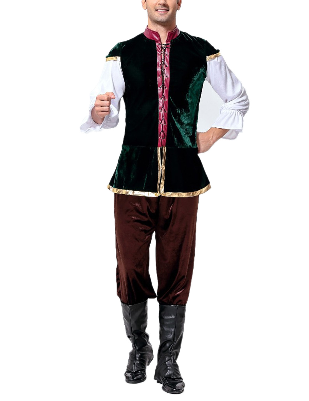 Men's Oktoberfest Costumes Halloween Cosplay Suit for Performance Show as shown_free size
