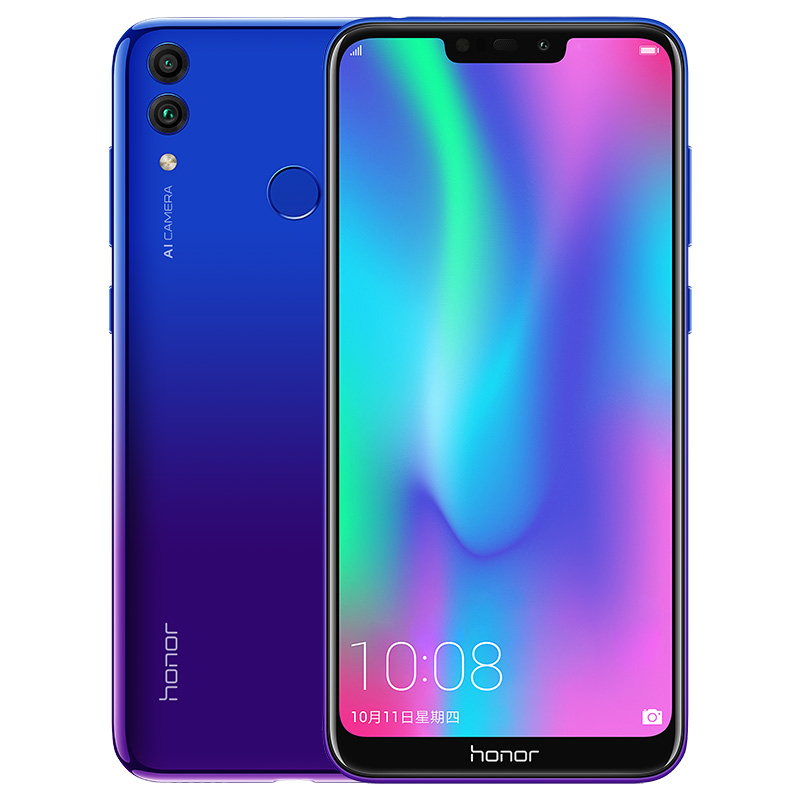 Huawei Honor 8C 4+32GB 3-Slot Face ID 6.26 Inch Snapdragon 632 Octa Core Front 8.0MP Dual Rear Camera 4000mAh blue_4+32G