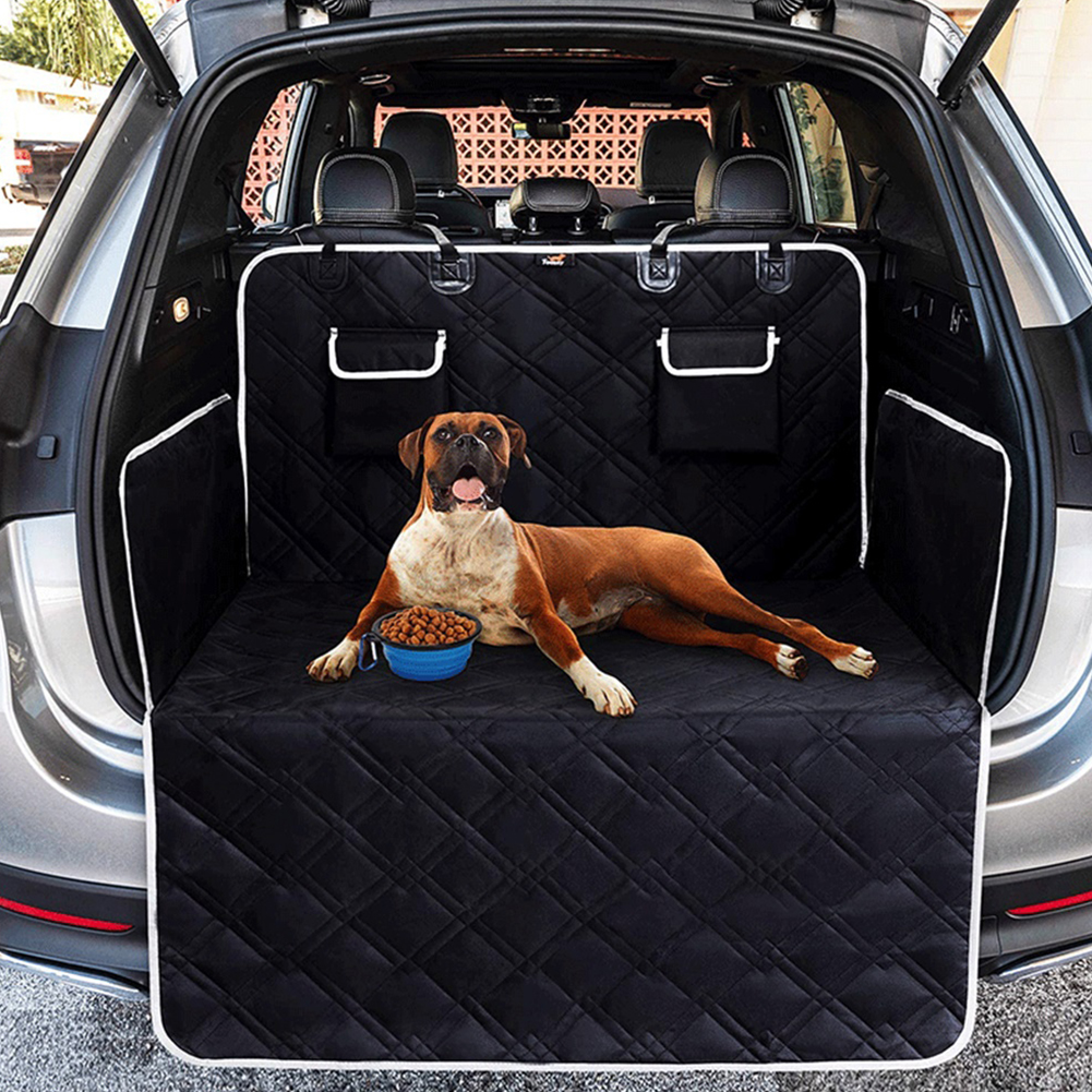 Waterproof Anti Dirty Pad Car Seated Mat with Pocket for Pet Cat Dog Outdoor Use black_185*103CM