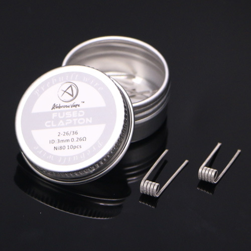 10 PCS/set NI80 Nichrome High Density Prebuilt Coils Premade Coil Heating Wire for Electronic Cigarette RDA RTA RBA RDTA Atomizer