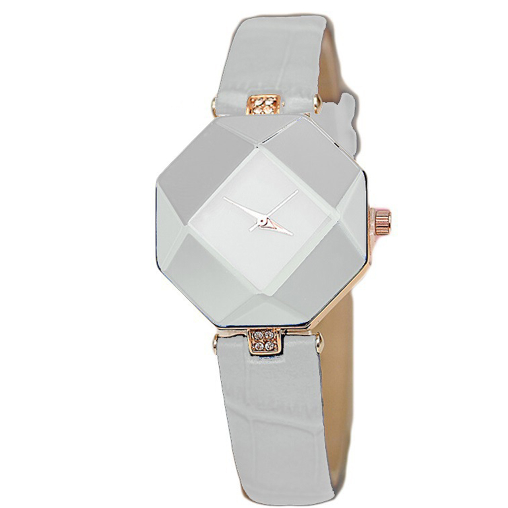 Women Simple Fashion High-precision Rhombus Quartz Watch white