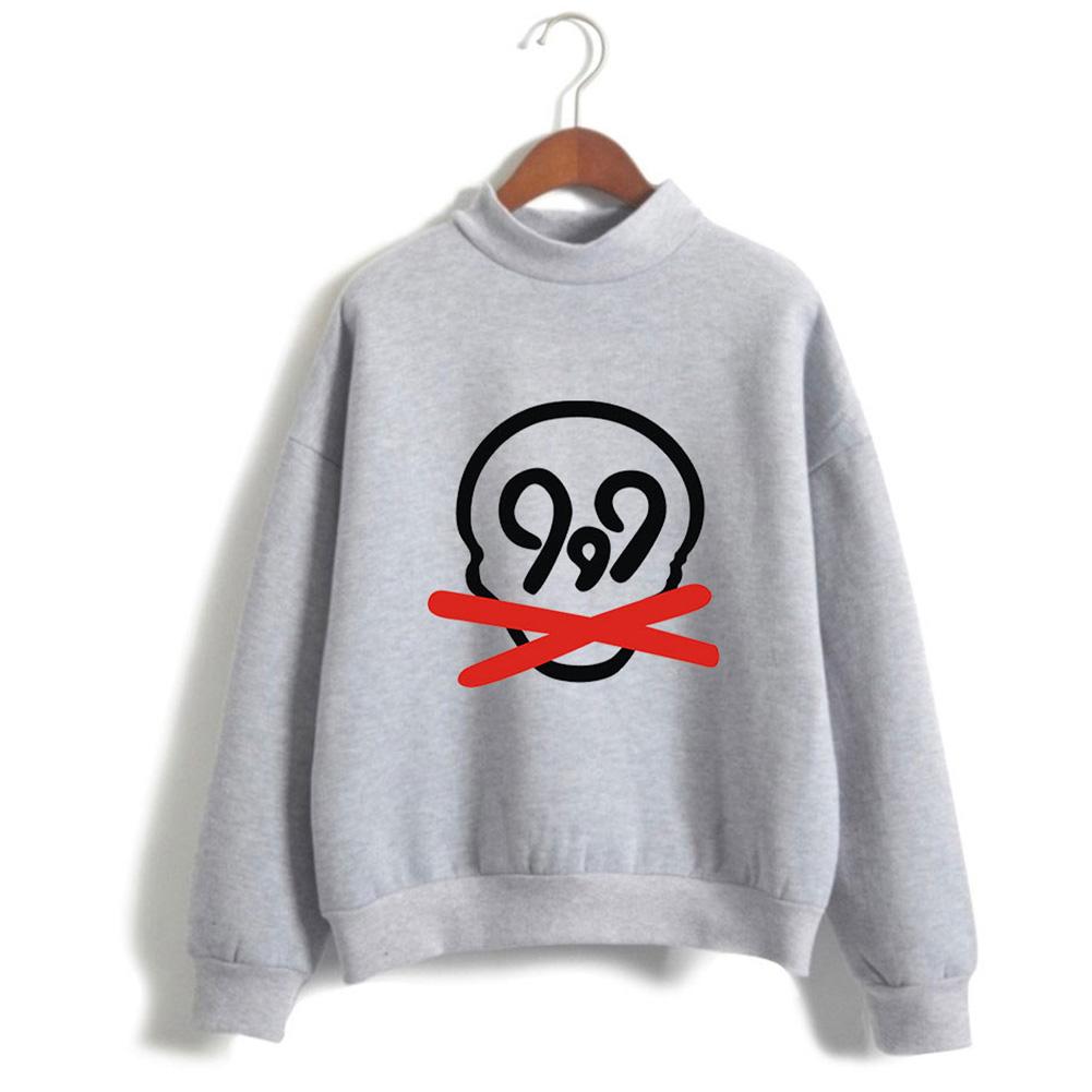 Men Women Printed Fashion Casual Turtleneck Sweater Long Sleeve Tops 3#_S