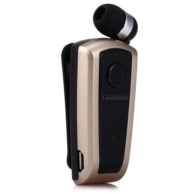 F910 Wireless Bluetooth V4.0 In-Ear Headset Wear Clip Earphone Gold