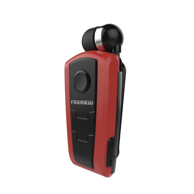 F910 Wireless Bluetooth V4.0 In-Ear Headset Wear Clip Earphone red