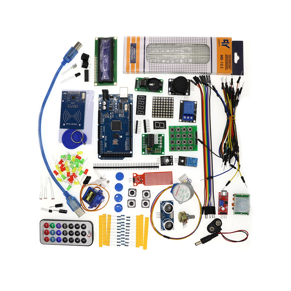 Mega 2560 R3 Starter  Kit Motor  Servo RFID Ultrasonic Ranging Relay LCD Rfid2560 R3 improved motherboard