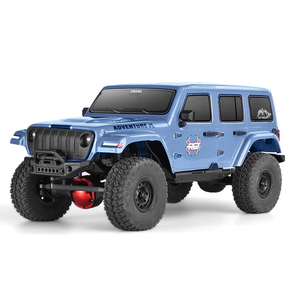 1:16 4wd Rc Car Metal Gear Off Road Truck Rc Rock Crawler 136161jl Climbing  Car Gray