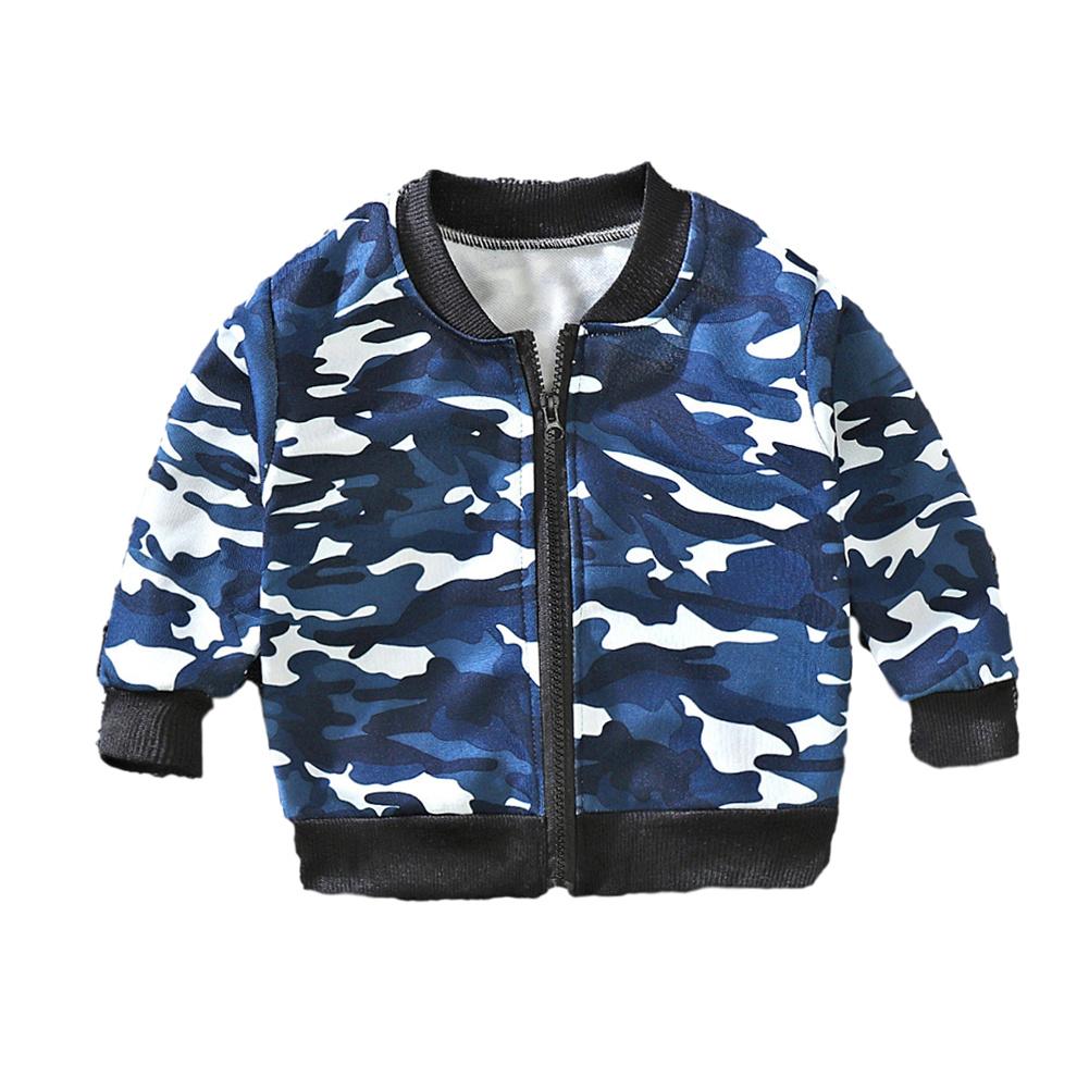 Children's Coat Long-sleeve Baseball Uniform for 0-4 Years Old Kids Camouflage_110cm