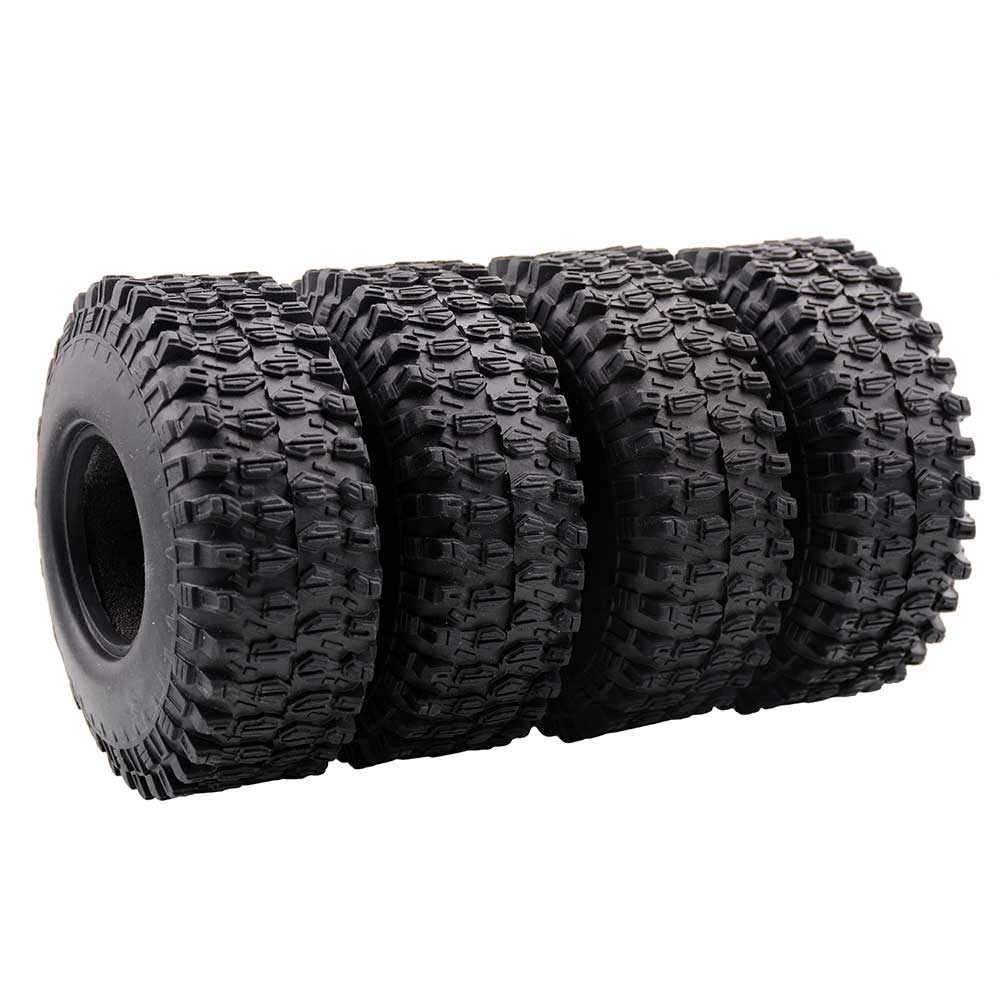 4Pcs 120Mm 1.9 Inch Rubber Rocks Tires / Wheel Tires for 1:10 RC Rock Crawler Axial SCX10 90046 90047 D90 D110 TF2  4PCS