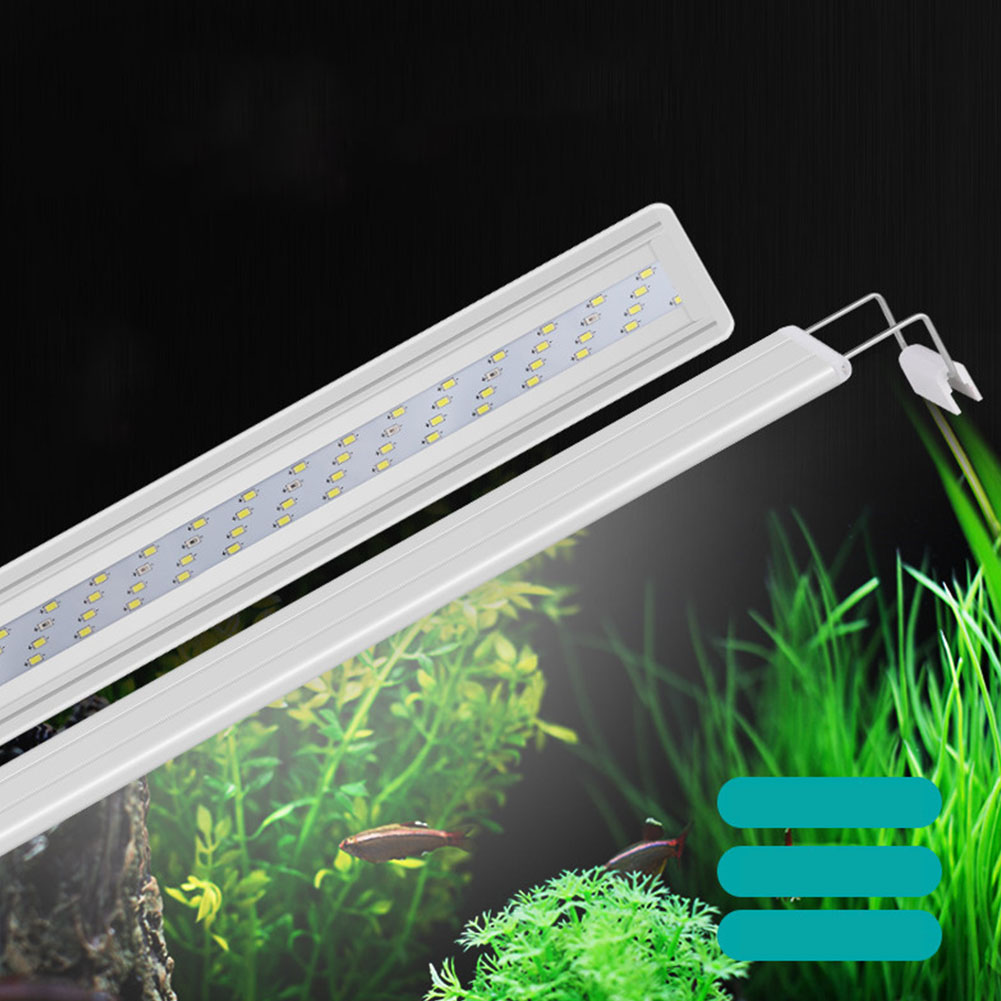LED Lamp with Extensible Clip for Aquarium Fish Tank Lighting White Blue Light Four rows of GX-A600 white and blue