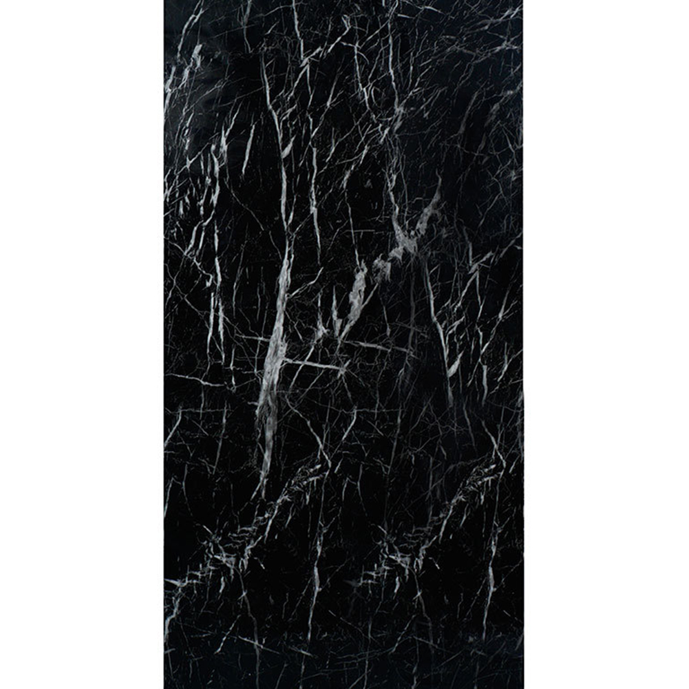 60x100CM Waterproof Marble Pattern Self-adhesive Wallpaper for Kitchen Cupboard Cabinet Furniture black